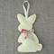 Lavender bunny, sachet, pastel lemon yellow, rabbit, felt, Liberty bow