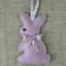 Lavender bunny, sachet, purple, rabbit, felt, Liberty bow