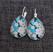 Cherry Blossom ~ Teardrop Lever Back Earrings