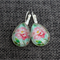 Pink Peony ~ Teardrop Lever Back Earrings