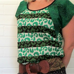 Green Cotton Ladies Top Size 10 and 12