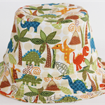 Dinosaur Bucket Hat. Sizes 0-3 months - 4-10 years