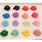 """Sweet Pea"" Flower Clips (set of 2)"