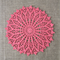 Crochet doily, salmon pink, teacher's gift, free postage
