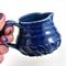 Ceramic Milk Jug Blue Speckled Handmade Pottery Home Decor Gravy Jug Cream Jug