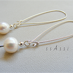 Argentium Sterling Silver and fresh water pearls