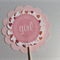 Cupcake toppers for baby girl shower