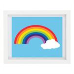 Rainbow Art Print, Modern Home Decor, Children's Art, 8 x 10 Print