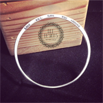 Dee Designs Bangle/ Argentium Silver/ hand stamped/ personalised for you!