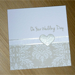 On Your Wedding Day  card - Beige and white