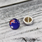 Australia Day - Australian Flag Glass Button - Stud Earrings