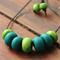 Gorgeous green polymer clay necklace