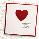 Custom Love card my favourite love story is ours Anniversary Valentine's Day