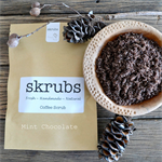 Skrubs Fresh Handmade Coffee Body Scrub Natural Cellulite Reducer Mint Chocolate