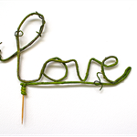"Rustic ""Love"" Cake Topper FREE SHIPPING"