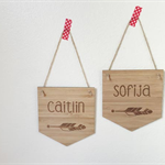 personalised name plaques - Laser Cut - PRE ORDER