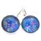 LEVER BACK EARRINGS- aquamarine florals
