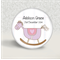 Personalised birth or christening magnet - baby girl.