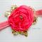 Dark pink chiffon flower stretch headband