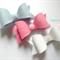 Felt bow trio - blue, pink, white