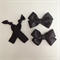 Set of black hair clips and elastics *Perfect for back to school*