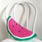 Crochet Watermelon Cushion