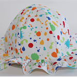 Paint Splash Sun Hat. Size 0-6 months - 4-8 years