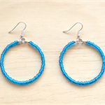 LARGE AQUA (TRANSPARENT) COLOUR BASICS EARRINGS - FREE SHIPPING WORLDWIDE