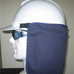 Hard Hat Neck Shades, Safety Hat Sun Protection. Cool breathable cotton.