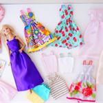 Barbie Doll Mini Wardrobe Collection, Barbie Doll Dresses, Skirts, Tops Set