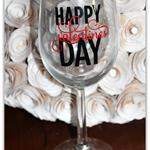 Happy Valentines Day Wine Glass