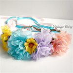 Colours of the rainbow flower crown by Vintage Fairy