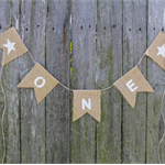 ONE Burlap Banner. Cake Smash Prop. First Birthday Party Décor. Party Bunting.