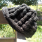 knitted beanie made from pure wool in black with white and brown flecks