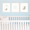 Set of 3 A4 Prints for Baby Boy Nursery, Light Blue, Watercolour Animals