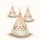 Set of 3 Tribal Nursery prints, A4 size