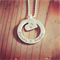 Heart Eclipse Sterling Silver Hand Stamped pendant/ necklace/ jewellery