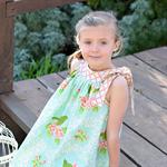 Size 6 Tie Me Up! Dress  Gorgeous Mint, pink, bird