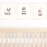 Set of 3 A4 Prints for Baby Boy Nursery or Kids Room, Red and Black Theme