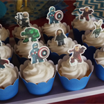 12x EDIBLE wafer  lego marvel cupcake toppers