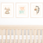 Set of 3 Tribal Nursery prints, A4 size