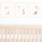Set of 3 A4 Prints for Baby Girl Nursery, Light Pink Shabby Chic Decor