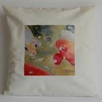 Cushion Cover, Koi Fish,  Watercolour Painting Art 40cmx40cm
