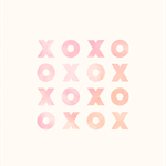 Kisses and Hugs 'XOXO' Print for Baby Girl Nursery, Kids Room or the Home
