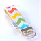 Rainbow Key Fob Chevron Pattern