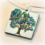 TREE OF LIFE Artisan Glass Pendant by Curly Jo