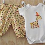 Little girls onesie and harem pants set.