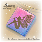 LACEWING Artisan Glass Pendant by Curly Jo