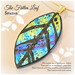LEAF Artisan Glass Pendant by Curly Jo