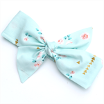 Fabric Knot Headband Gold Mint Newborn - Adult sizes